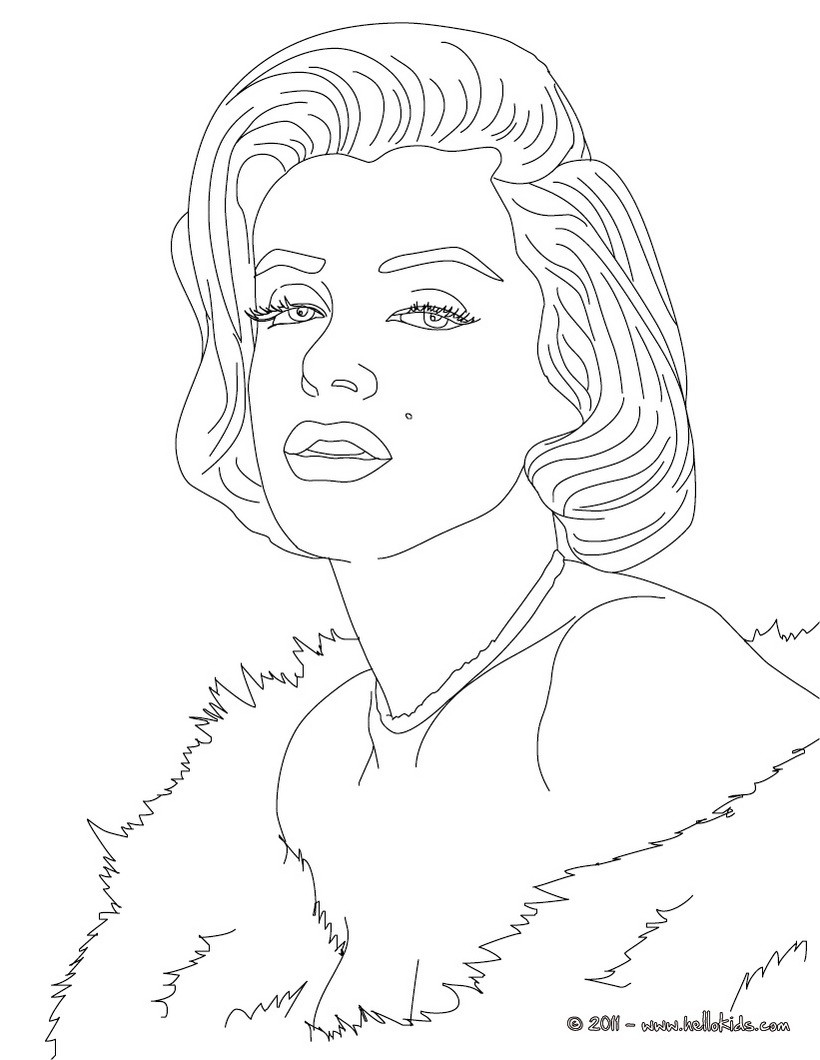 marilyn monroe coloring pages - marylin monroe