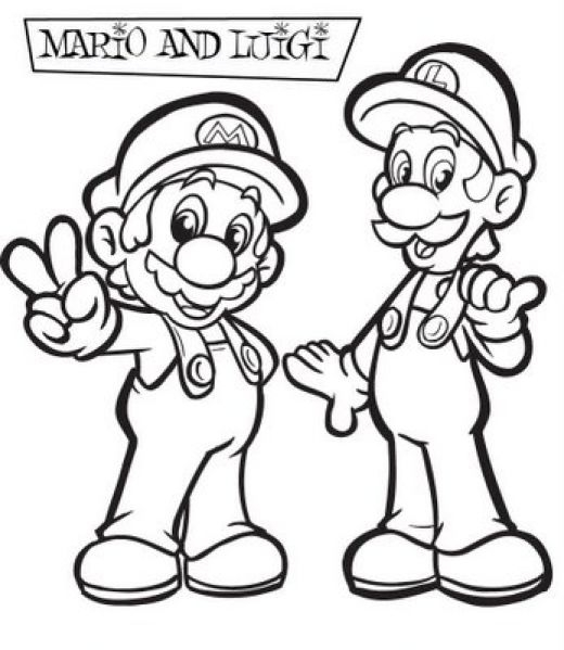 mario and luigi coloring pages - luigi and mario coloring pages