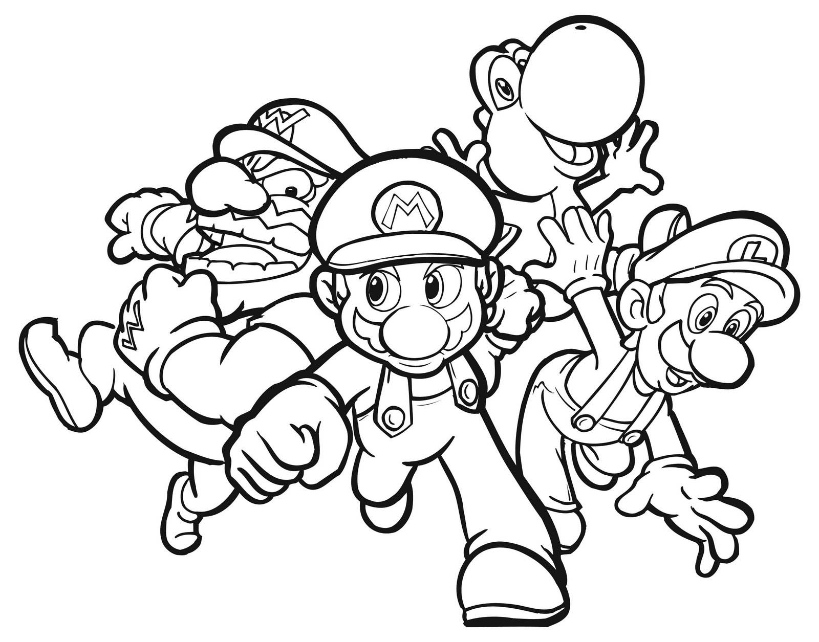 mario bros coloring pages - 9 free mario bros coloring pages for m=1