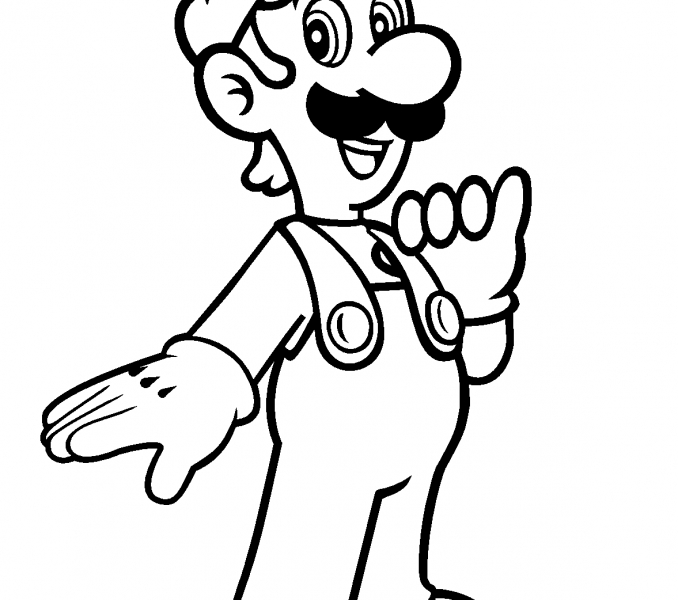 mario bros coloring pages - mario brothers coloring pages