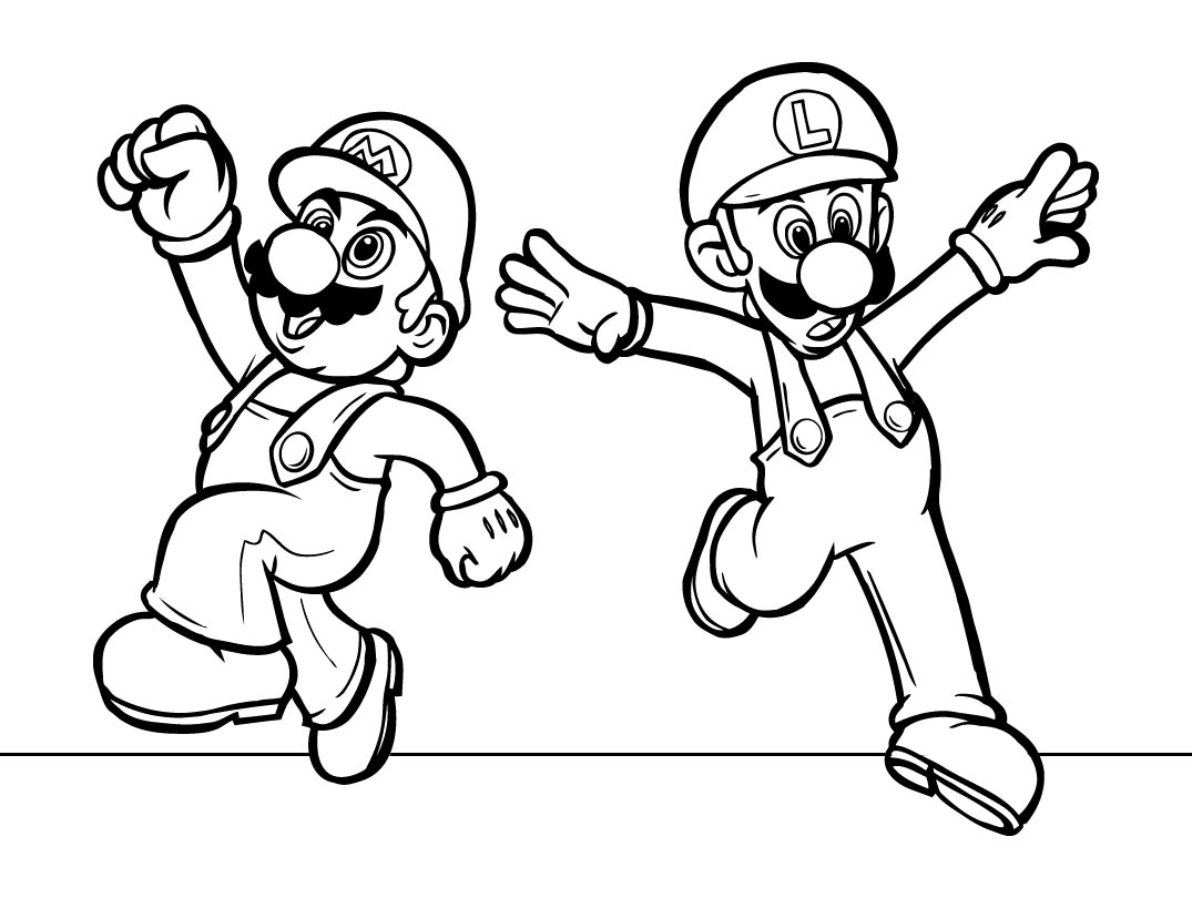 mario bros coloring pages - super mario bros coloring pages