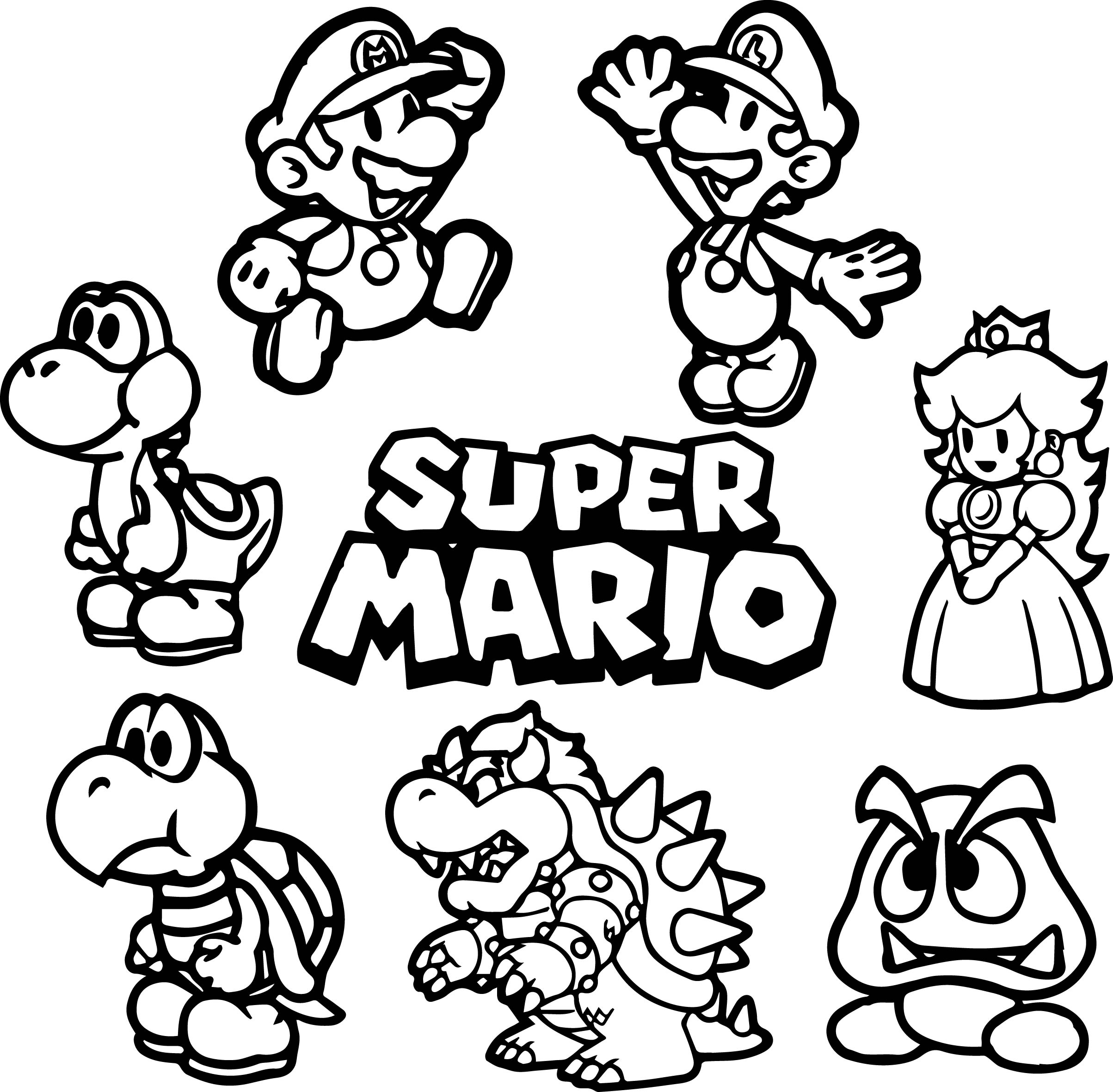 mario brothers coloring pages - mario coloring pages