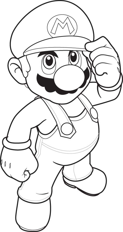 mario brothers coloring pages - 9 free mario bros coloring pages for