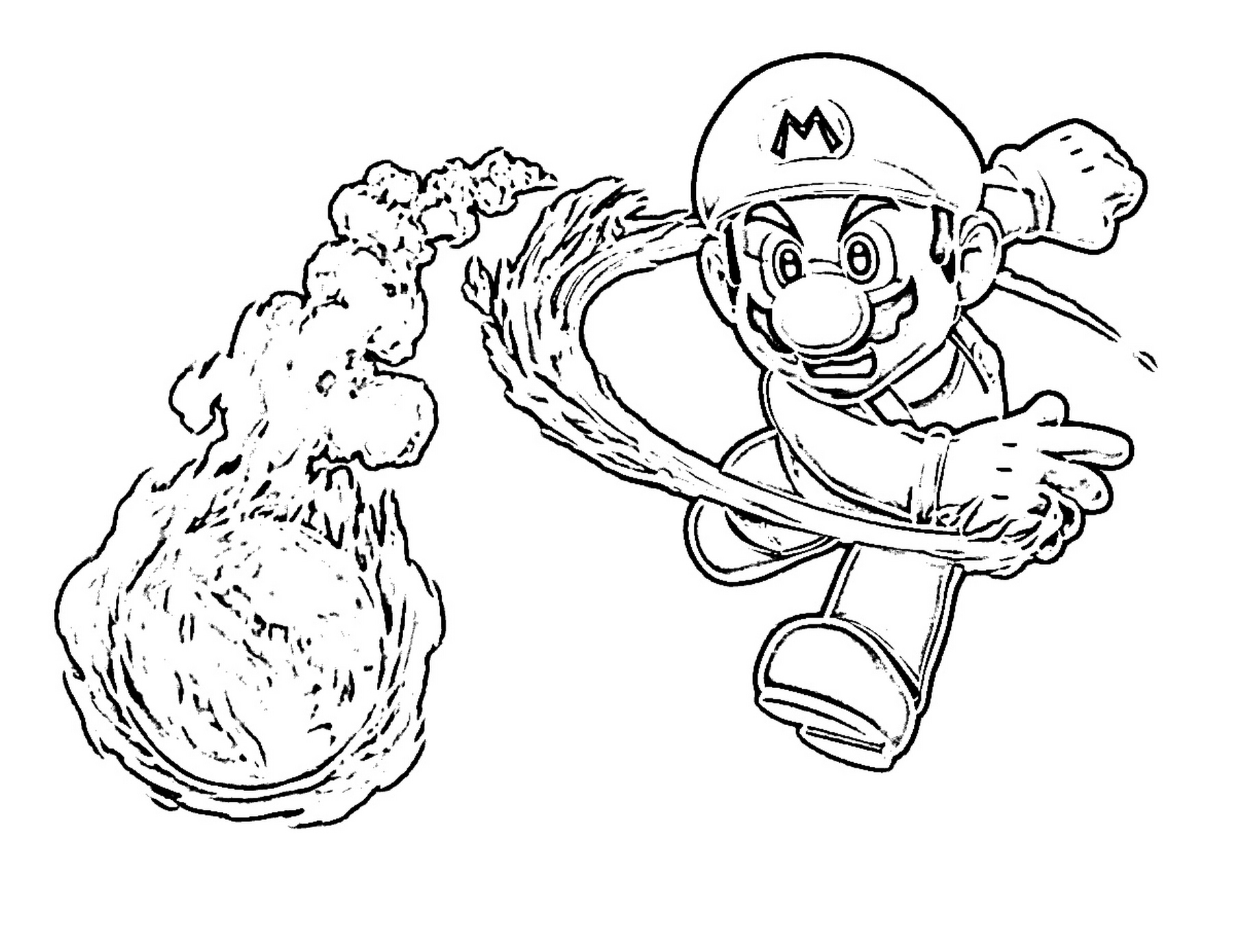 mario brothers coloring pages - 23