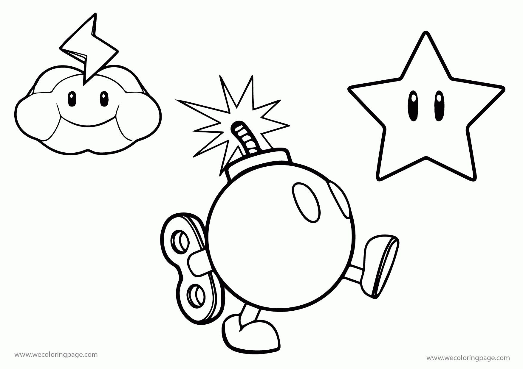 mario coloring pages - all mario character coloring pages