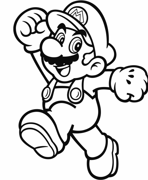 mario coloring pages - official mario coloring pages