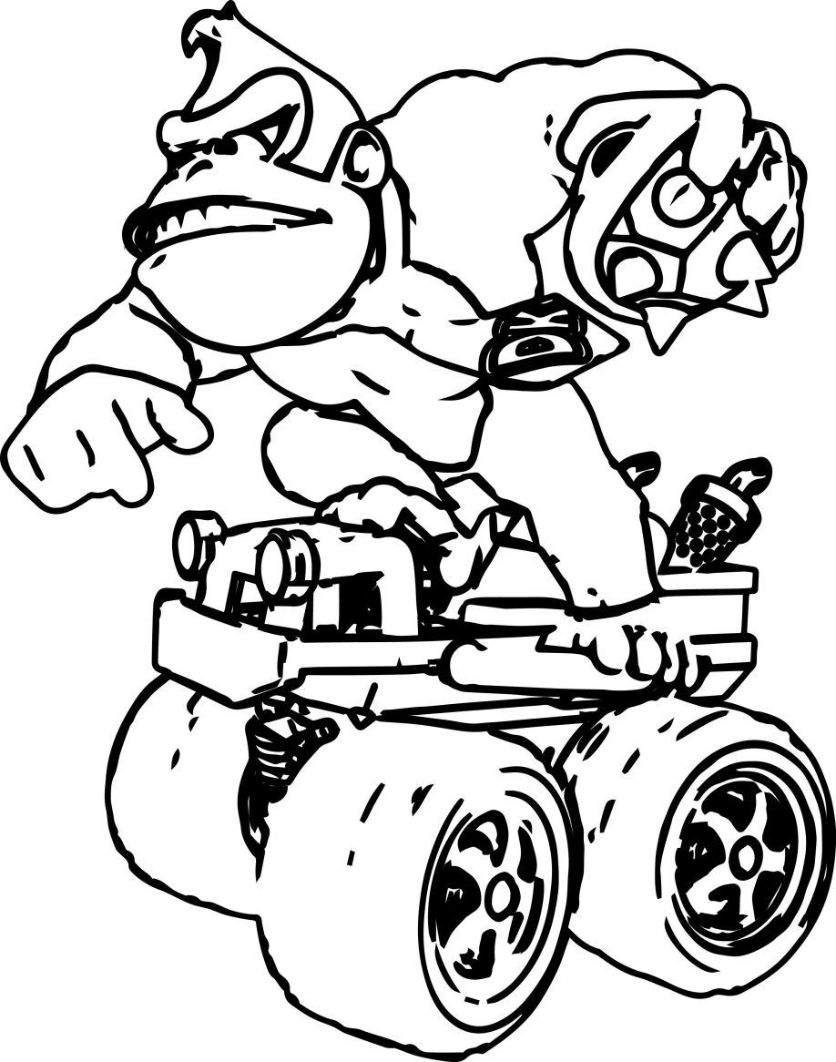 mario coloring pages online - donkey kong coloring page