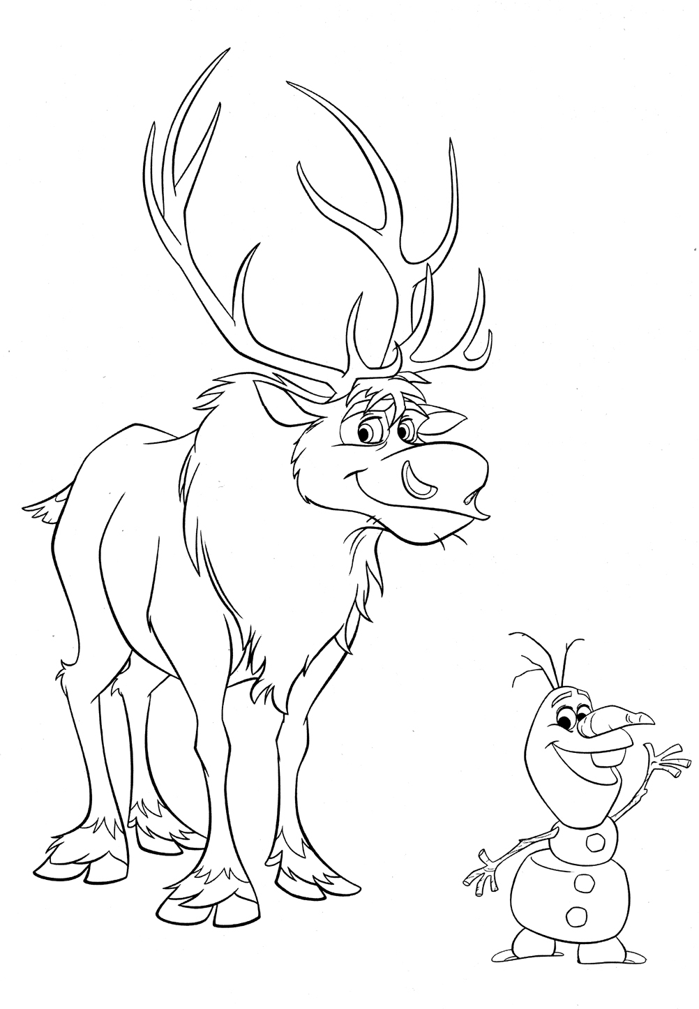 Mario Coloring Pages Online - Olaf Coloring Pages with Sven Coloringstar