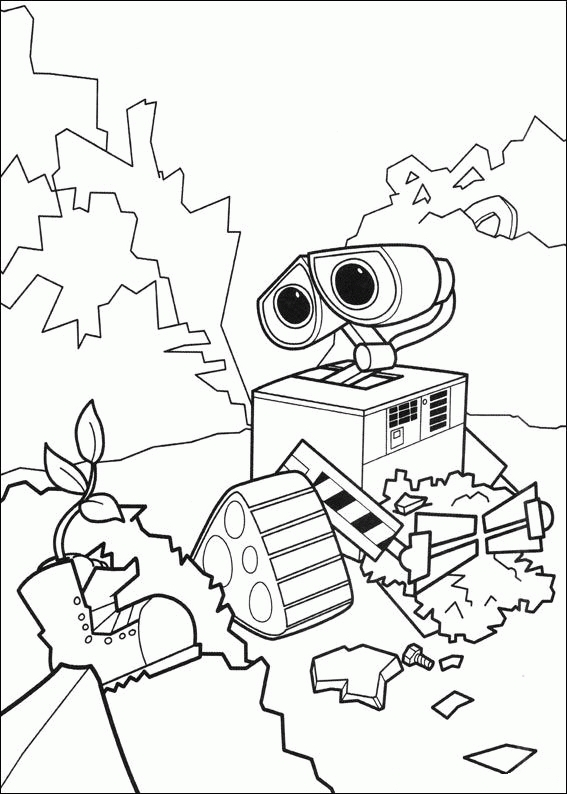 mario coloring pages online - wall e