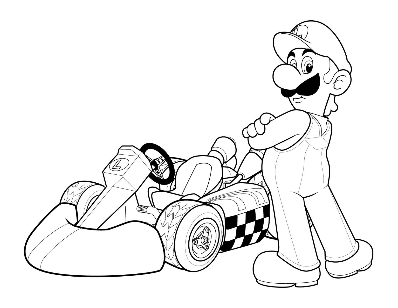 mario kart coloring pages - mario coloring pages