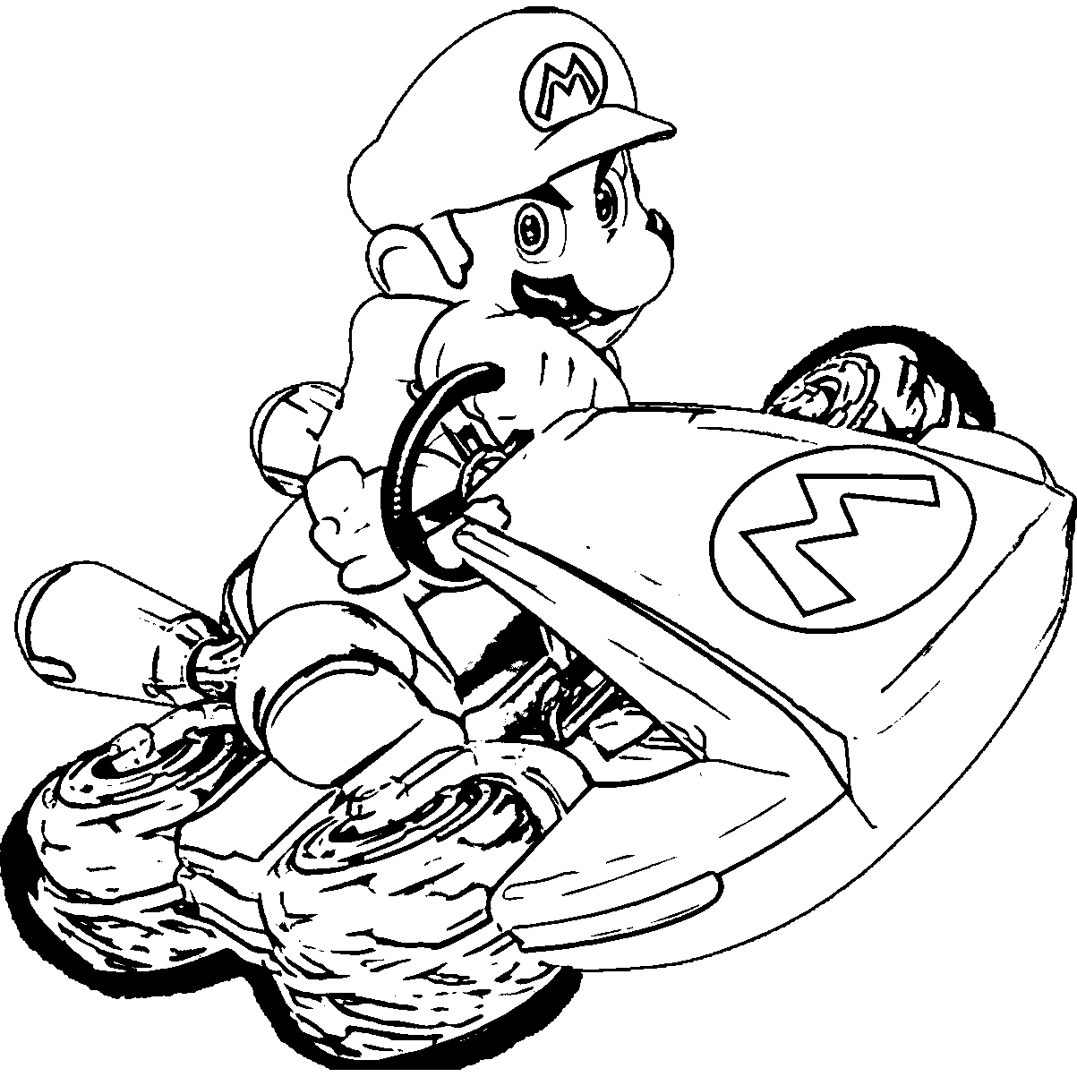 25 Mario Kart Coloring Pages Printable FREE COLORING PAGES Part 2