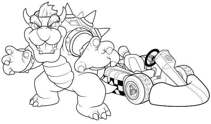 mario kart coloring pages -