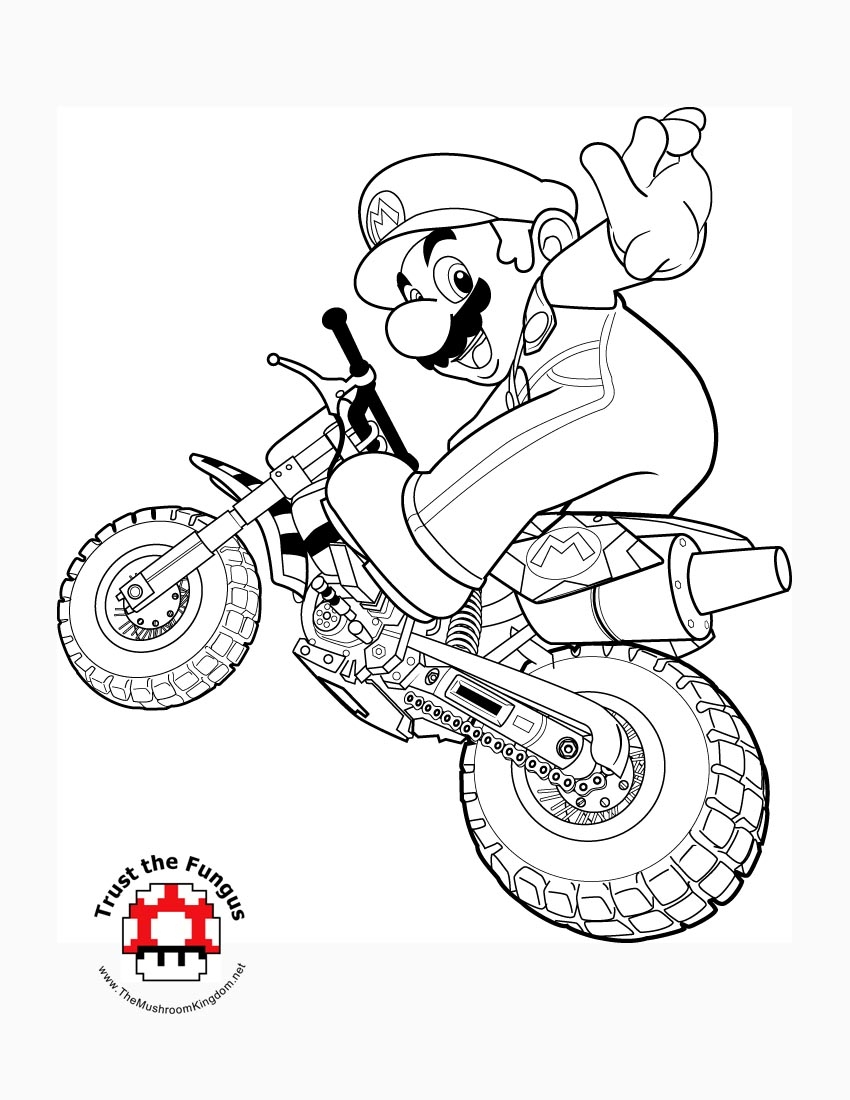 mario kart coloring pages - mario kart toad coloring pages sketch templates