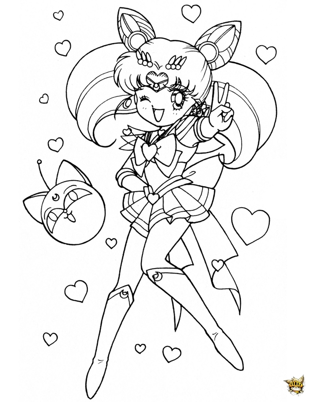 mars coloring pages - chibi clin doeil