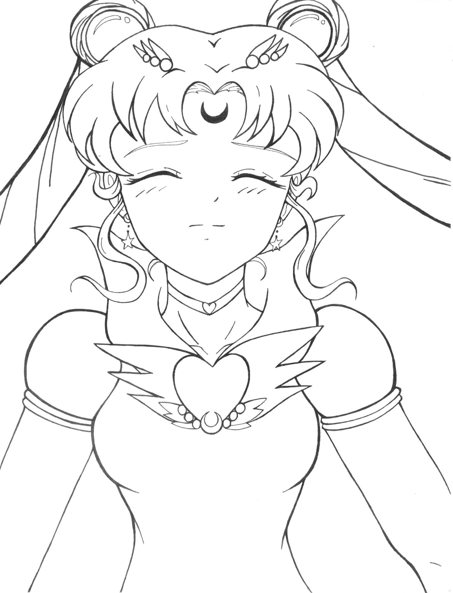 mars coloring pages - Sailor Moon