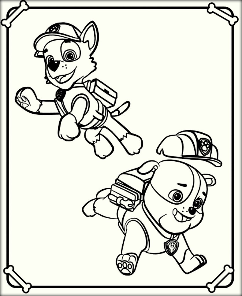 marshall paw patrol coloring page - paw patrol coloring pages