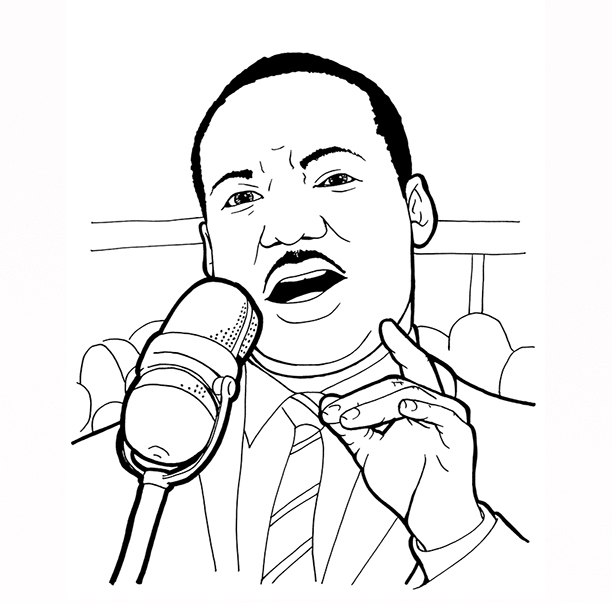 martin luther king coloring pages - dr martin luther king jr free story coloring book