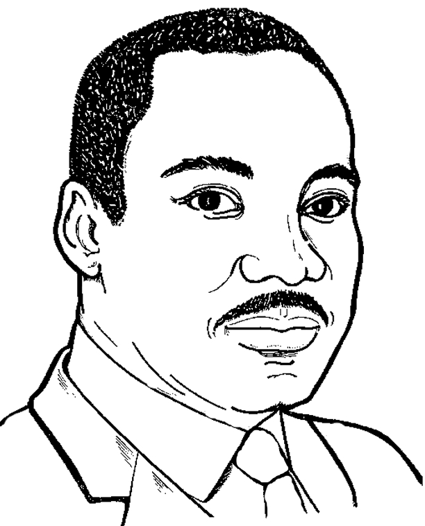 Martin Luther King Coloring Pages - Free Printable Coloring Worksheet On Mlk