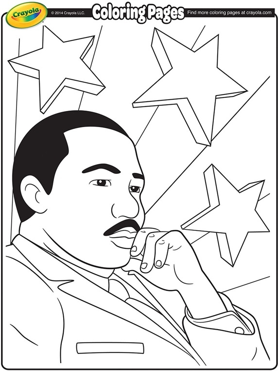 martin luther king coloring pages - martin luther king jr coloring page