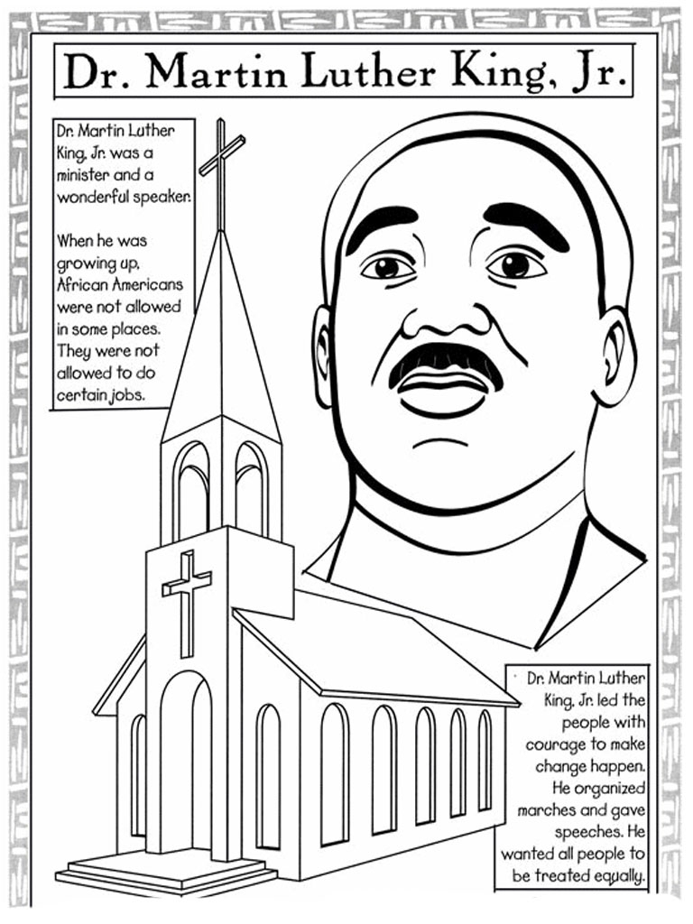 martin luther king coloring pages - martin luther king jr coloring pages