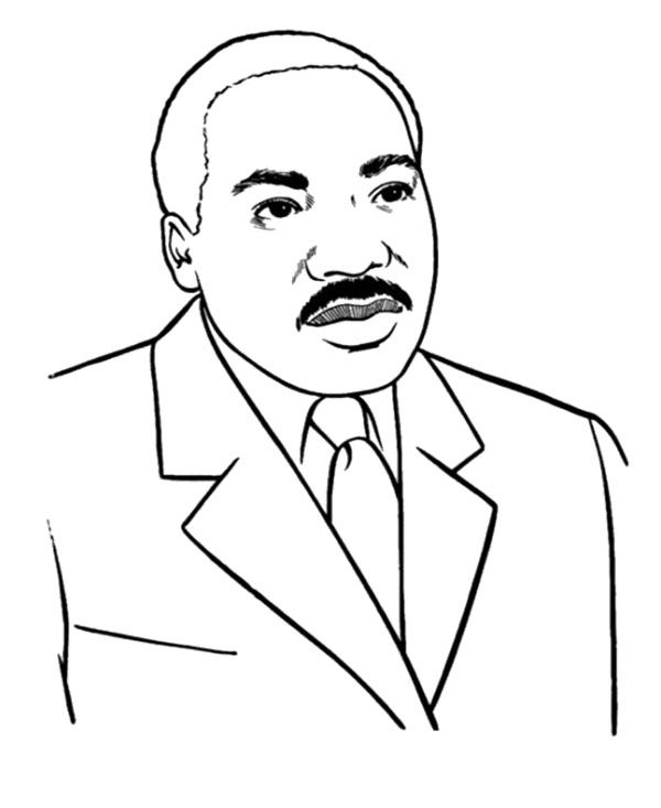 martin luther king jr coloring pages - action man coloring page