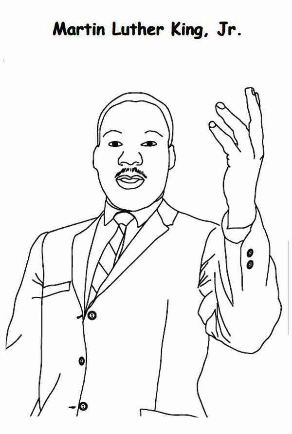 martin luther king jr coloring pages - martin luther king coloring pages free
