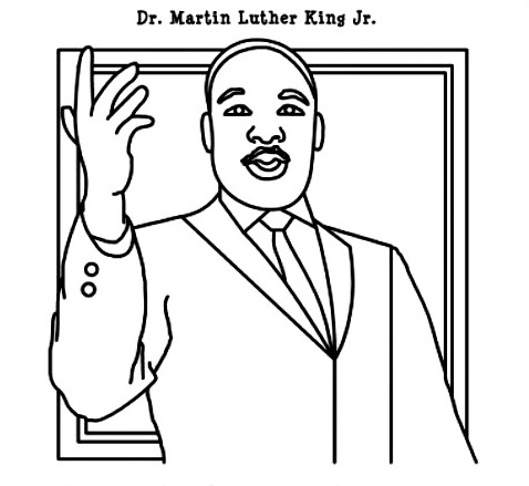 martin luther king jr coloring pages - 0