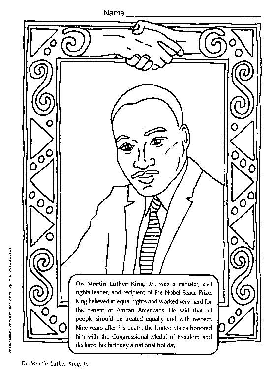 martin luther king jr coloring pages printable - q=martin luther king jr