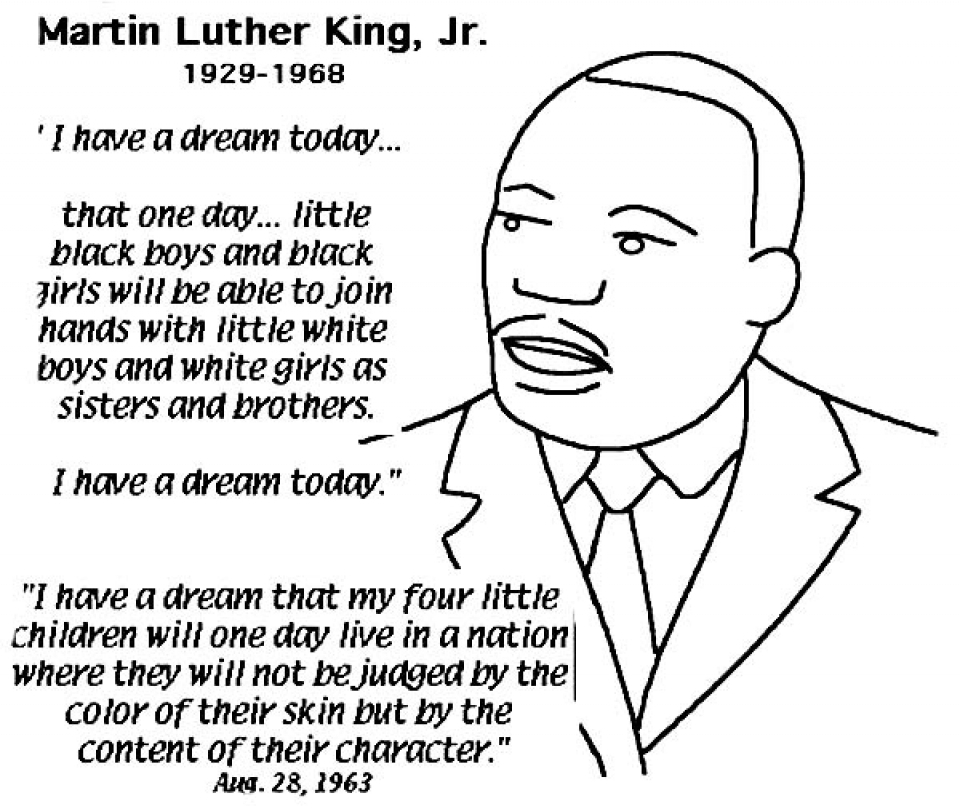 martin luther king jr coloring pages printable - easy printable martin luther king jr coloring pages for children la4xx