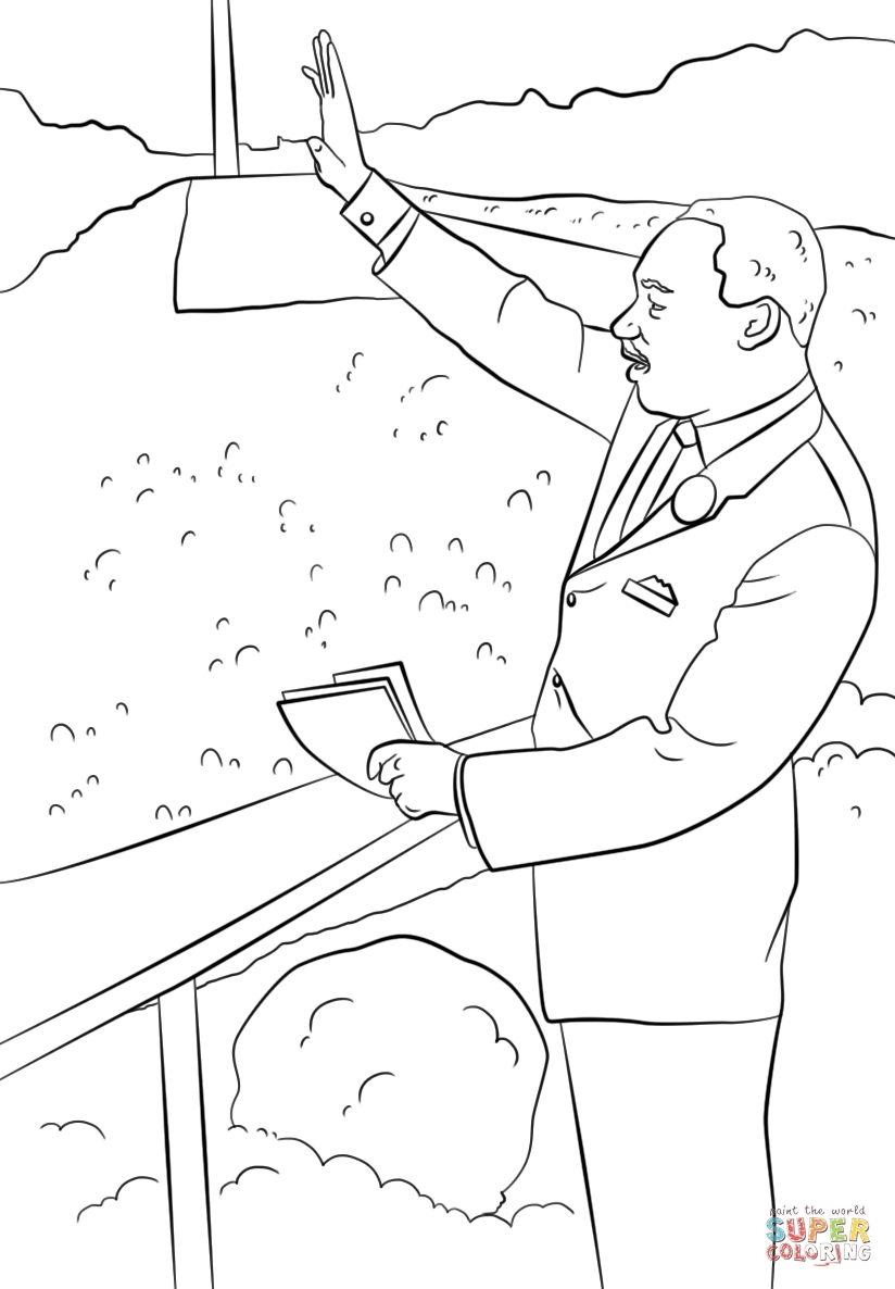 martin luther king jr coloring pages printable - martin luther king i have a dream