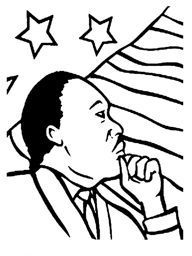 martin luther king jr coloring pages printable - martin luther king jr coloring pages