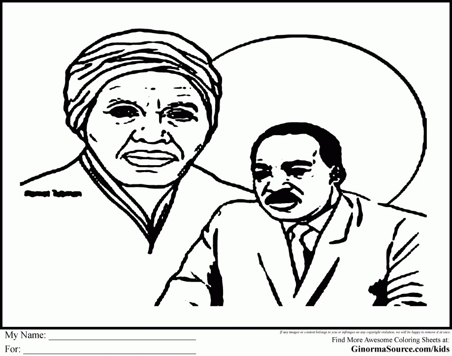 martin luther king jr coloring pages printable - mlk coloring page free