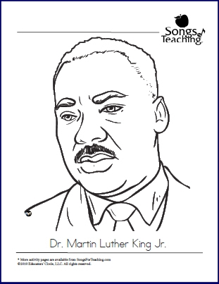 martin luther king jr coloring pages printable - MLKjrcoloringpage