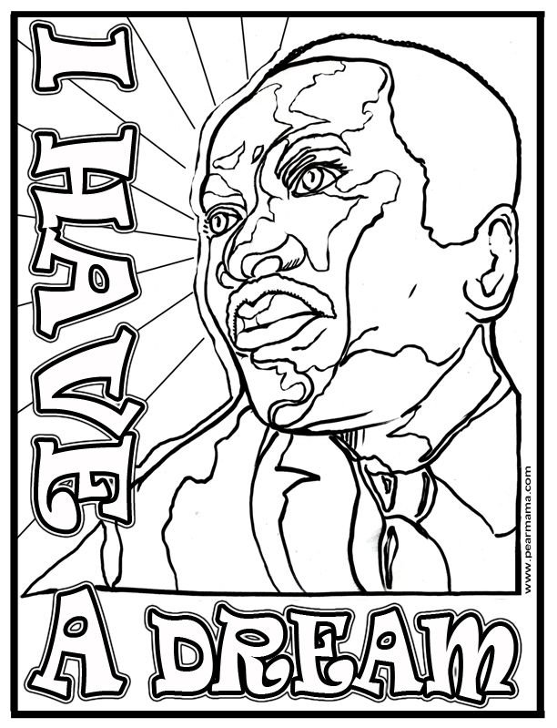 martin luther king jr coloring pages printable - album=martin luther king jr coloring page