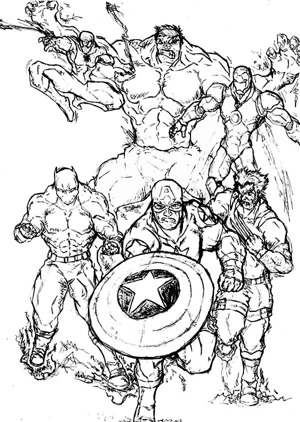 marvel superhero coloring pages - 6