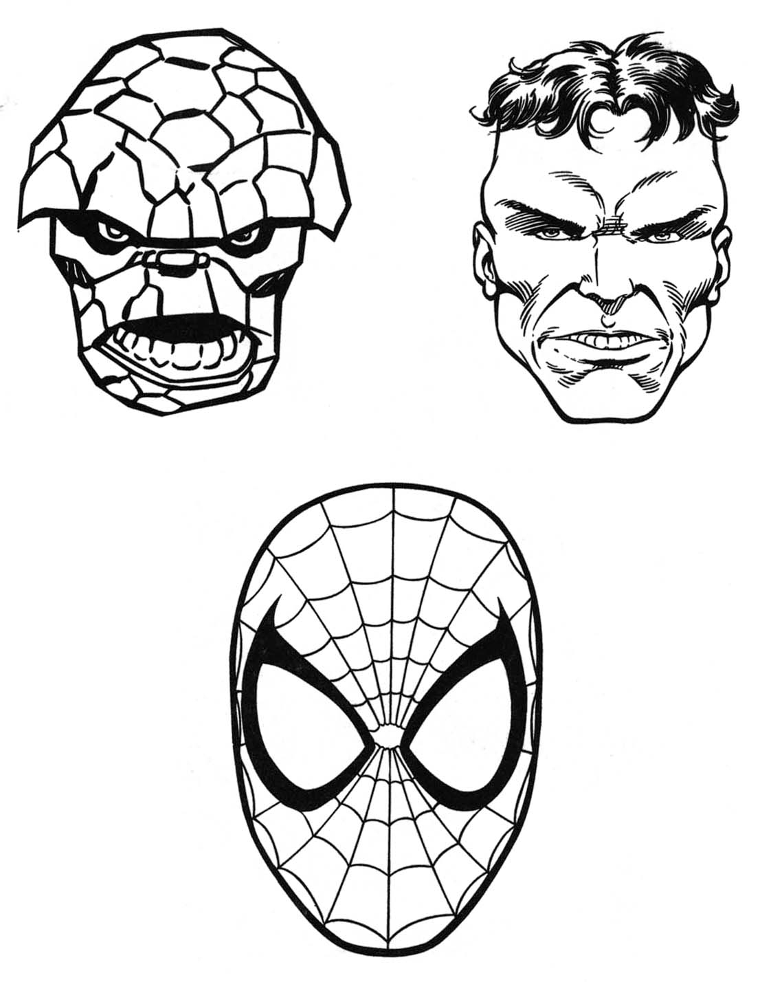 marvel superhero coloring pages - marvel