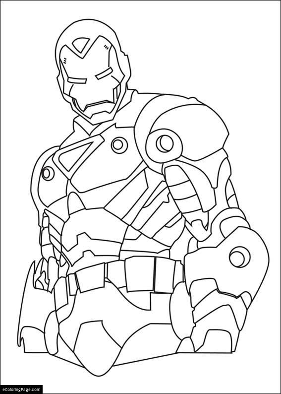 marvel superhero coloring pages - marvel superhero ironman coloring page printable