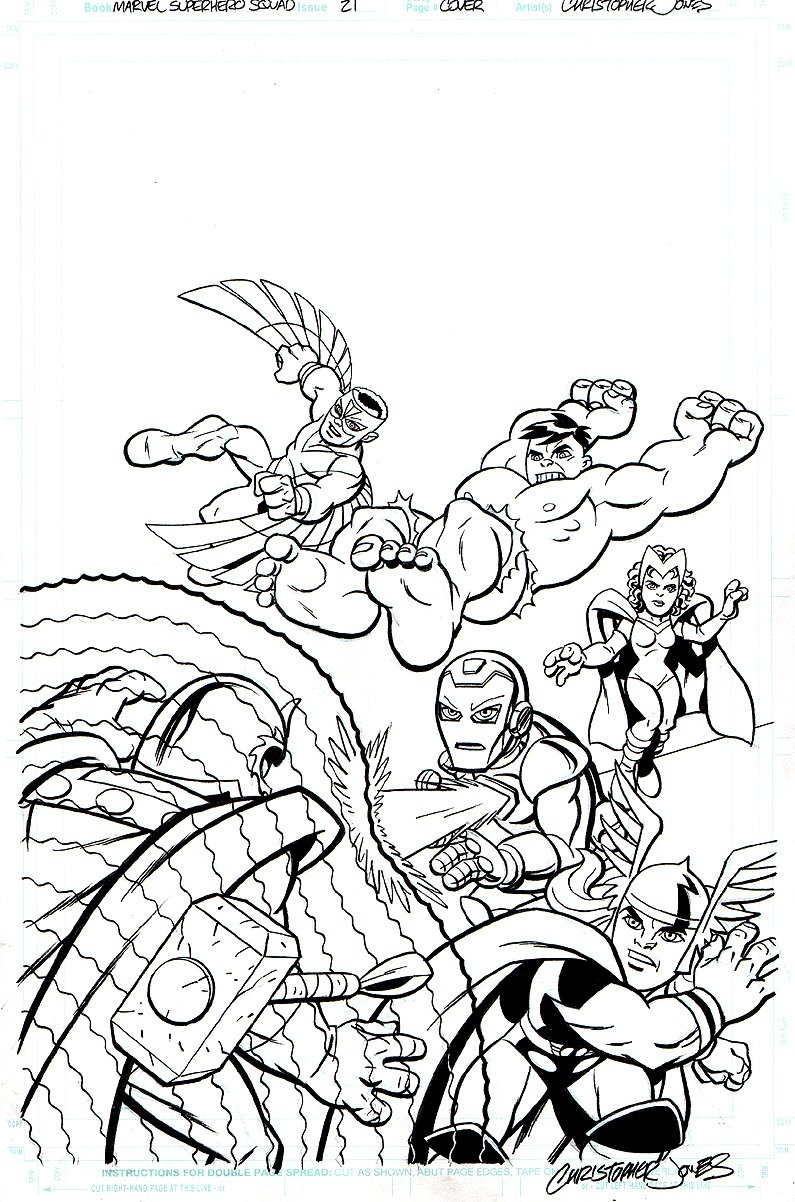 marvel superhero coloring pages - marvel superhero squad coloring pages