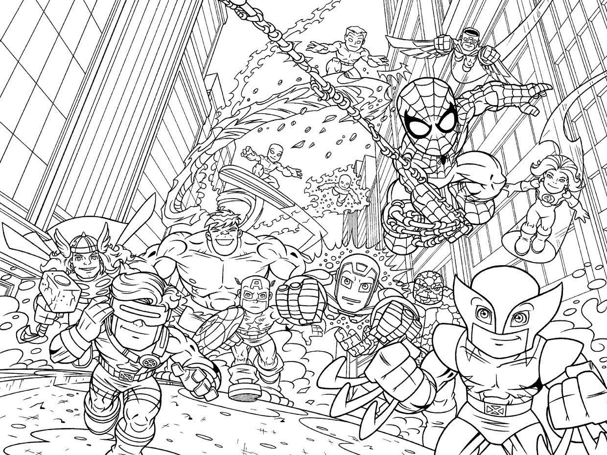 Marvel Superhero Coloring Pages - Marvel Superhero Squad Coloring Pages Superhero Coloring