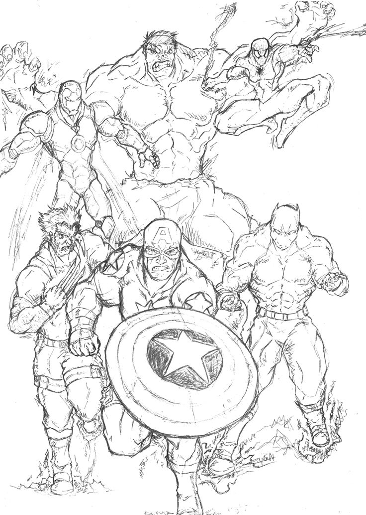 marvel superhero coloring pages -