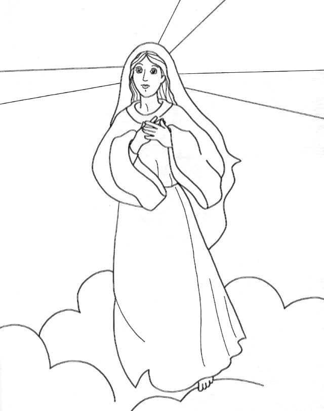 mary coloring pages - blessed mary coloring pages