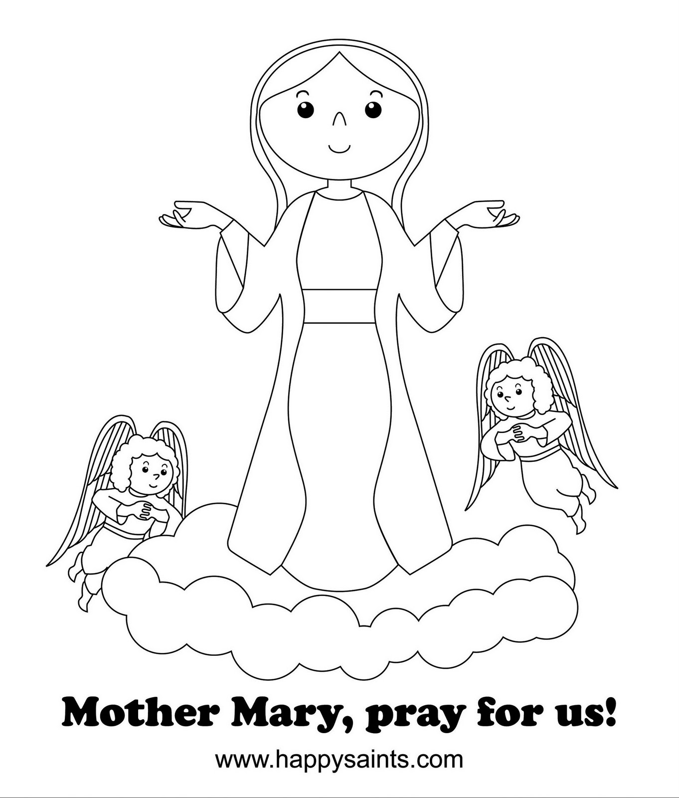 mary coloring pages - q=virgin mary