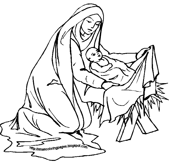 mary coloring pages - mary and elizabeth coloring pages