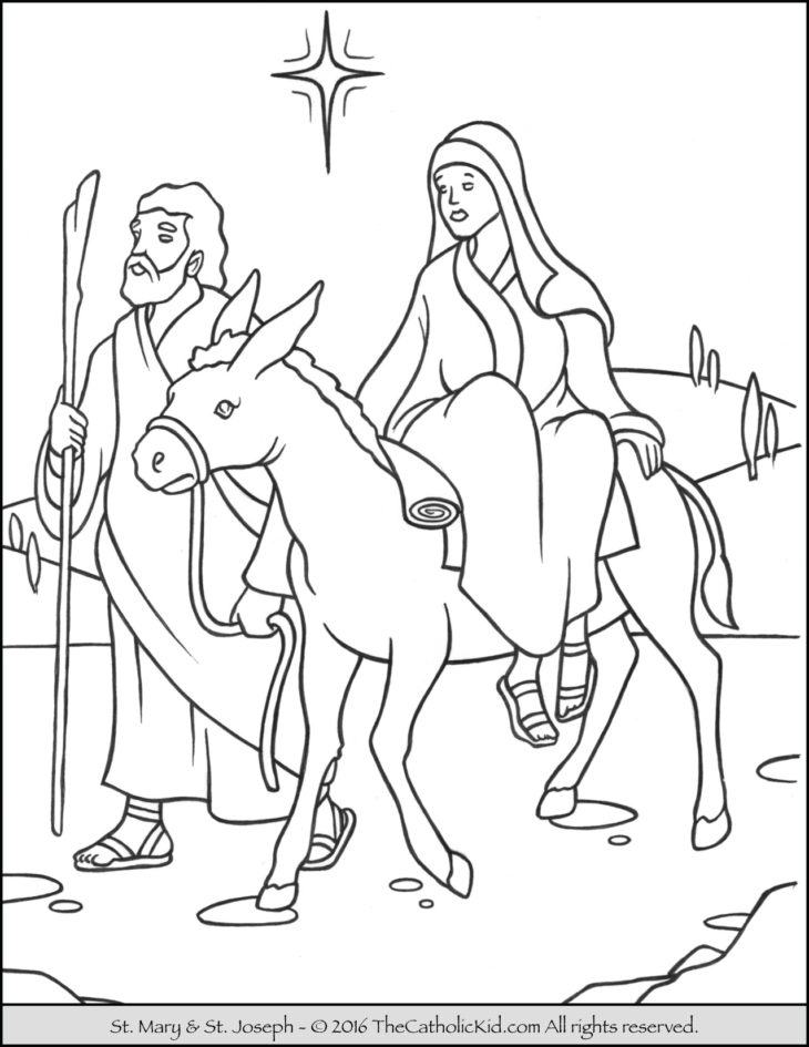 mary coloring pages - mary