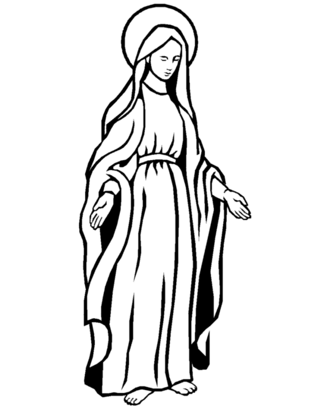 mary coloring pages - mary mother of god coloring pages