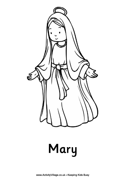 mary coloring pages - mary mother of jesus coloring pages sketch templates