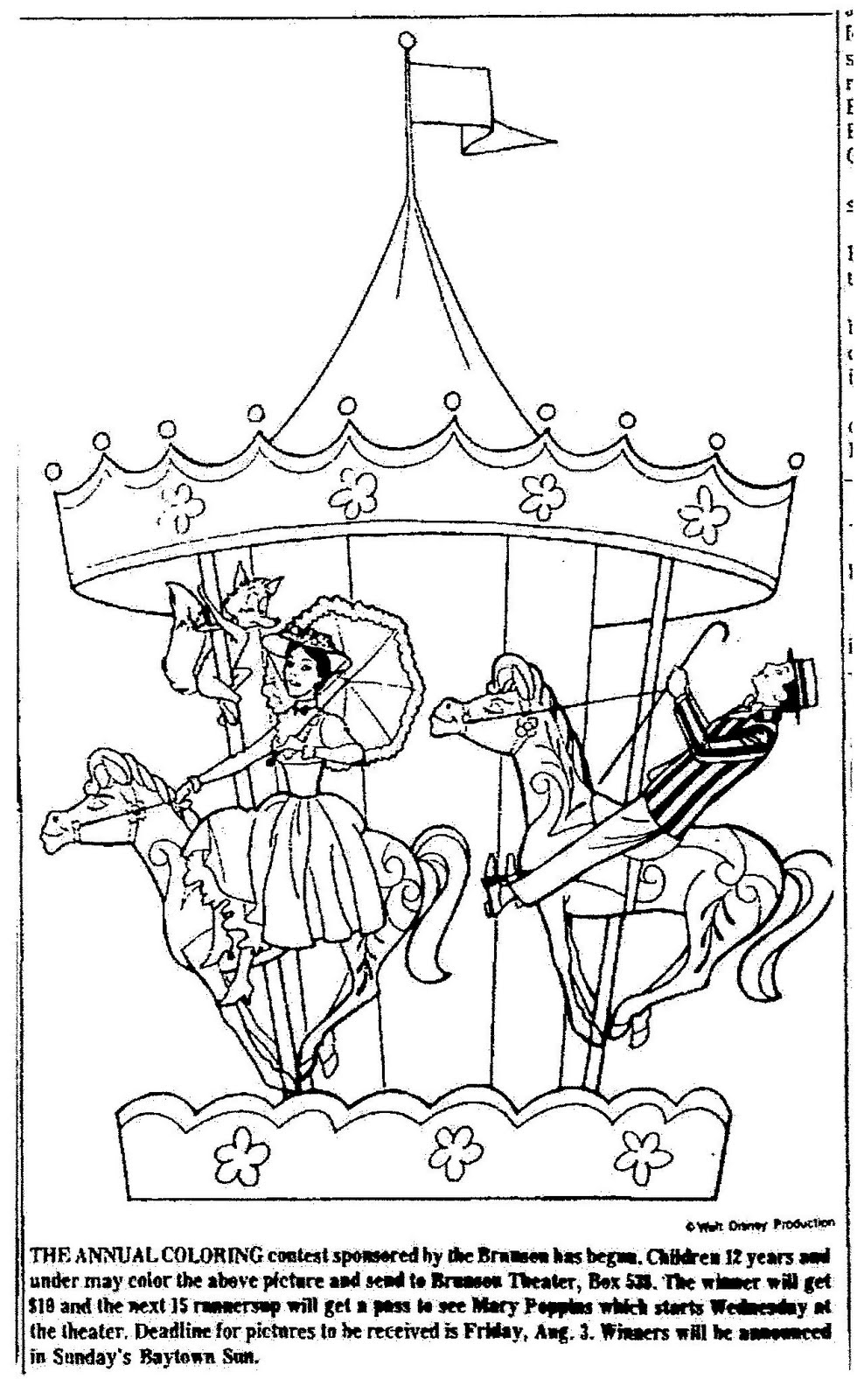mary coloring pages - mary poppins coloring page