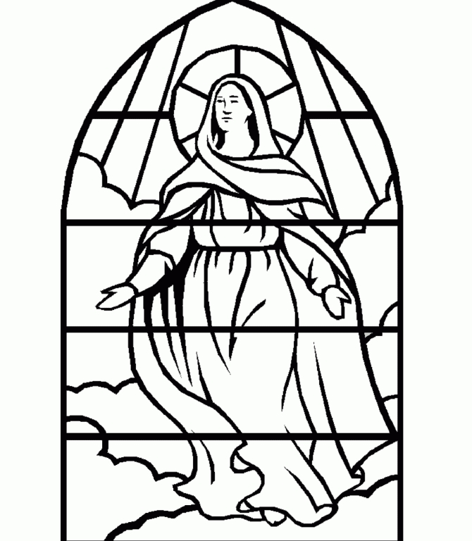 mary coloring pages - mother mary coloring pages
