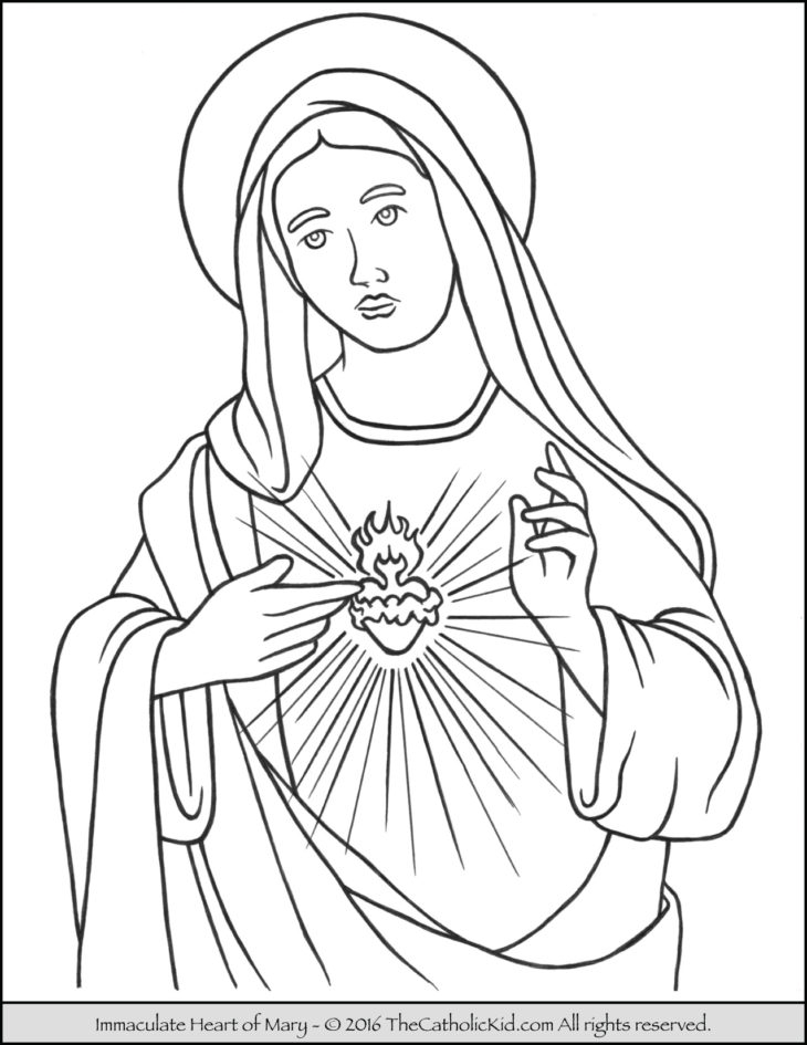 mary coloring pages - 3