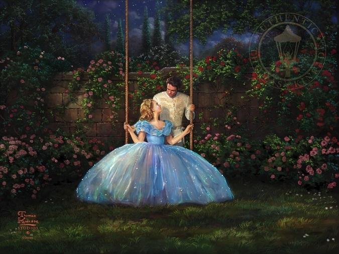 mary poppins coloring pages - Thomas Kinkade Disney Cinderella Dreams e True Painting